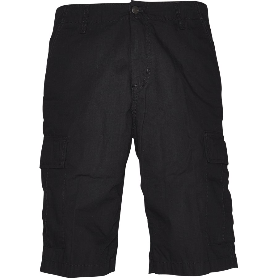 REGULAR CARGO SHORT. I015999 - Regular Cargo Shorts - Shorts - Regular - BLACK RINSED - 1